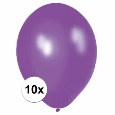 Paarse versiering ballonnen 10 stuks