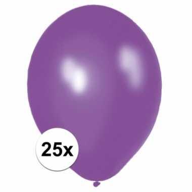 Paarse versiering ballonnen 25 stuks
