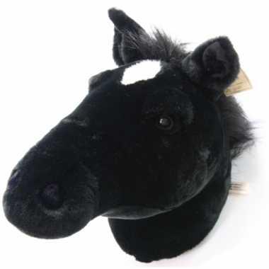 Pluche versiering paardenhoofd