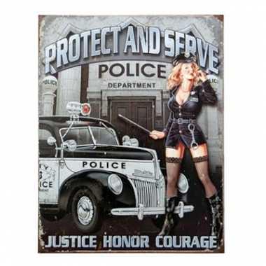 Politie versiering bord