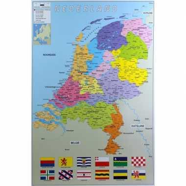 Poster nederland provincie map kaart 61 x 91 cm wandversiering