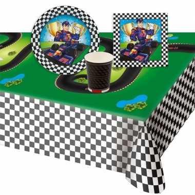 Race formule 1 thema tafelversiering pakket 8 personen