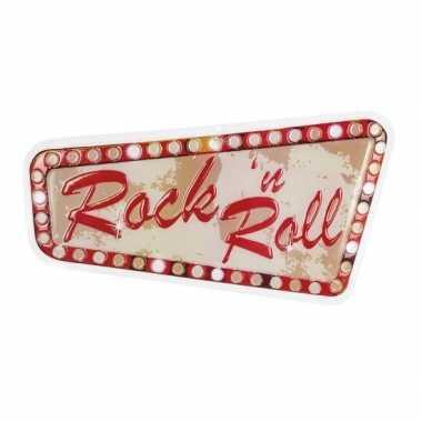 Rock n roll muur versiering 33 x 60 cm