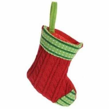 Rode kerstsok kerstversiering hangversiering 21 cm