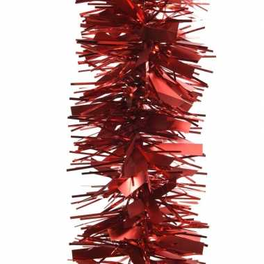 Rode kerstversiering folie slinger mat/glans 270 cm