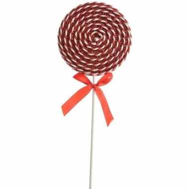 Rood witte lolly kerstversiering hangversiering 36 cm