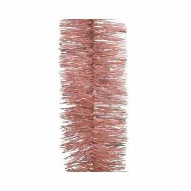 Roze kerstslinger 7 x 270 cm kerstboom versieringen