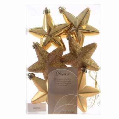 Sweet christmas gouden kerstversiering sterren