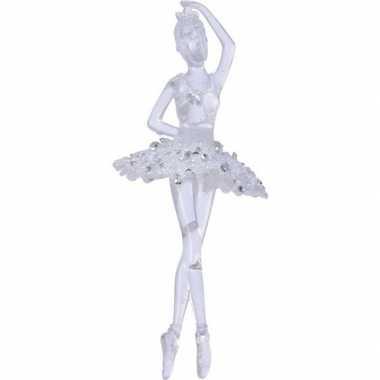 Transparante ballerina kerstversiering hangversiering 17 cm