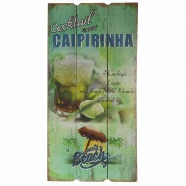 Tuin versiering bordje caipirinha cocktail