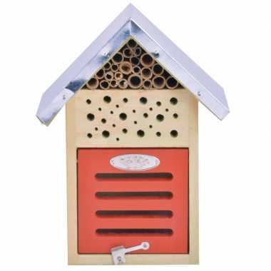 Tuinversiering insectenhotel 24 cm