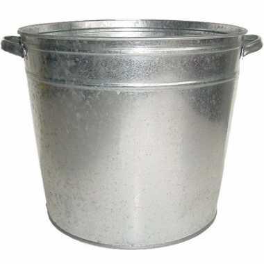Tuinversiering zilveren wasteil 3 2l