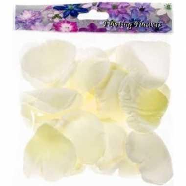 Valentijn 72x witte strooi rozenblaadjes versiering