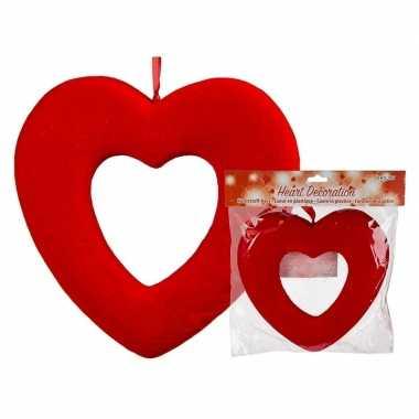 Valentijn rood open valentijns hartje hangversiering 22 cm