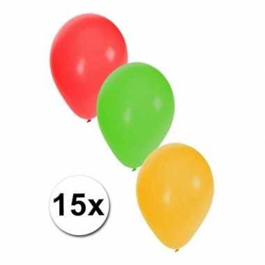 Versiering ballonnen carnaval 15 stuks