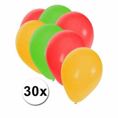 Versiering ballonnen carnaval 30 stuks