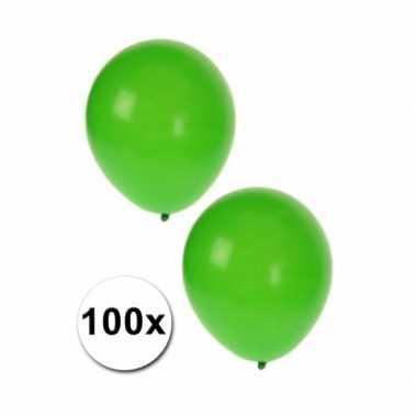 Versiering ballonnen groen 100 st