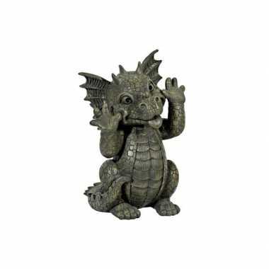 Versiering beeld draak gekke bek26 cm