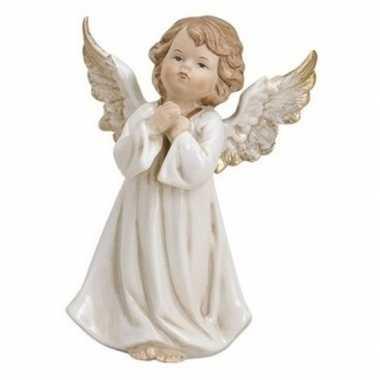 Versiering beeldje engeltje biddend 9 cm