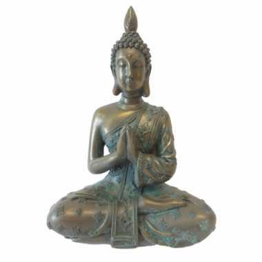 Versiering boeddha thais brons 18 cm
