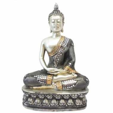 Versiering boeddha thais zilver 28 cm