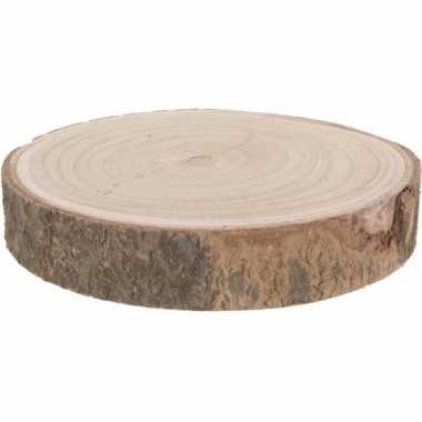 Versiering boomschijf/pannen onderzetters/kaarsenbord 26 cm