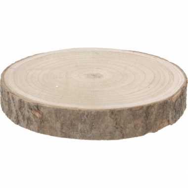 Versiering boomschijfpannen onderzetters/kaarsenbord van 23 cm