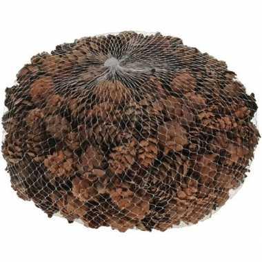 Versiering dennenappels bruin 3 cm