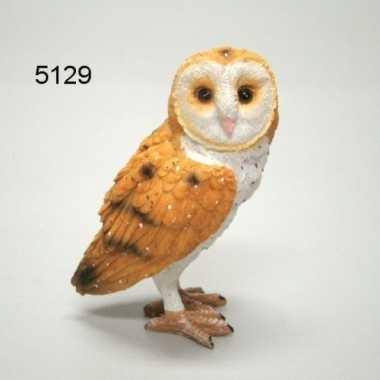 Versiering dieren beeld kerkuil vogel 9 cm