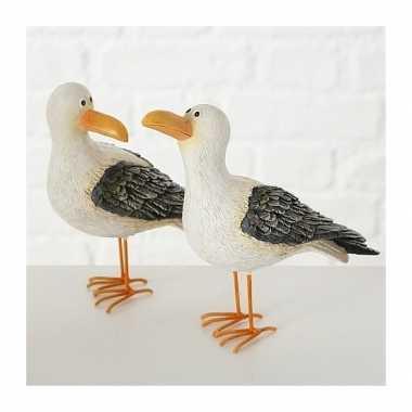 Versiering dieren beeld meeuw vogel 15 cm