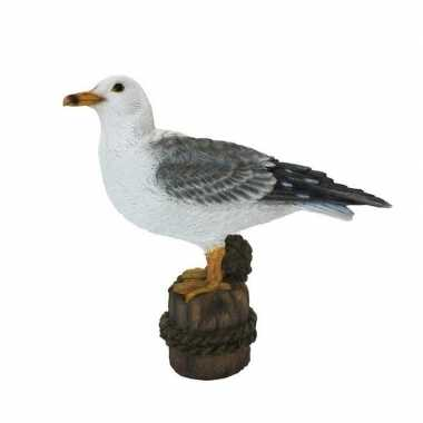 Versiering dieren beeld meeuw vogel wit 21 cm
