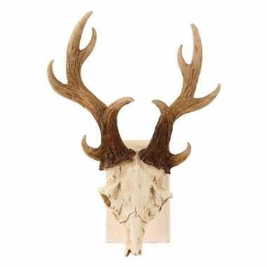 Versiering dierenkop herten schedel met gewei 23 cm