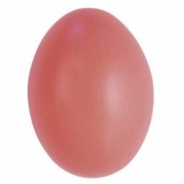 Versiering eieren roze 6 cm 25 stuks