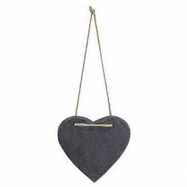 Versiering hart 12 cm van leisteen