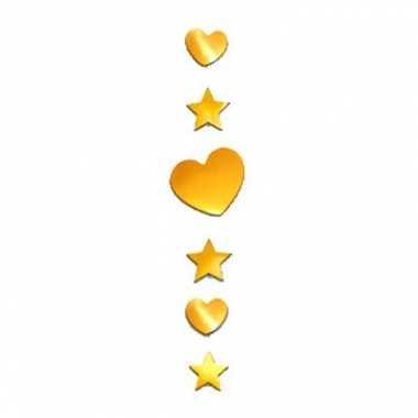 Versiering hart en ster goud 90 cm