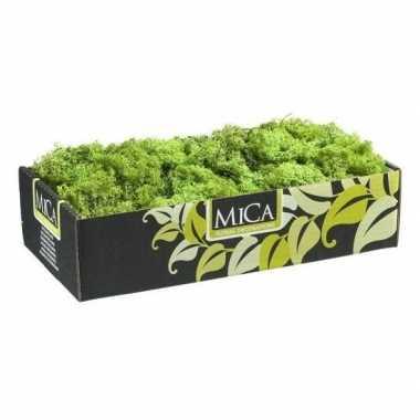 Versiering/hobby mos groen 500 gram