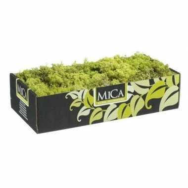 Versiering/hobby mos lichtgroen 500 gram
