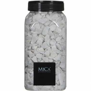 Versiering/hobby stenen wit 1 kg