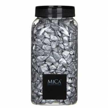 Versiering/hobby stenen zilver 1 kg