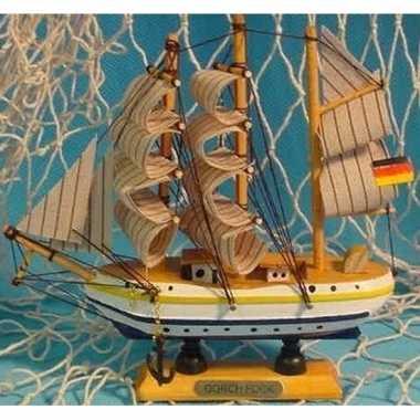 Versiering houten model schip gorch fock 16 cm