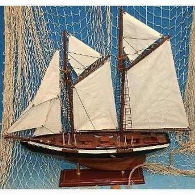 Versiering houten model tweemaster zeilschip 50 cm