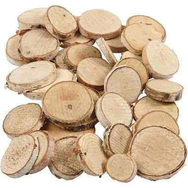 Versiering houten schijfjes 140 stuks