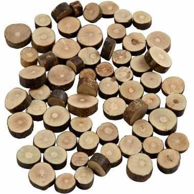 Versiering houten schijfjes 230 gr