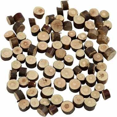 Versiering houten schijfjes 230 gram