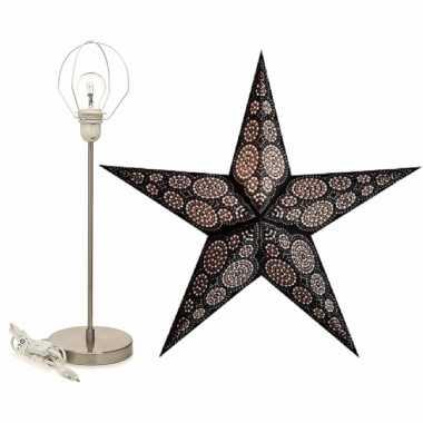 Versiering kerstster marrakesh 60 cm inclusief tafellamp/lamp standaard
