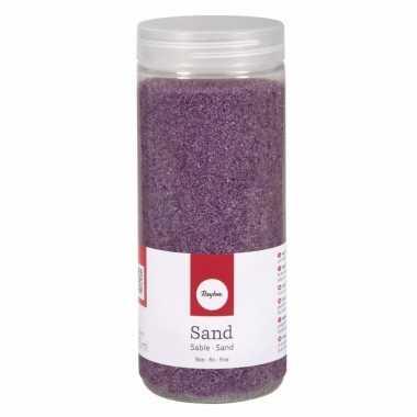Versiering materiaal lila zand