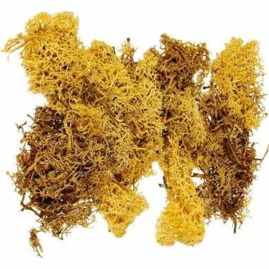 Versiering mos geel 50 gram