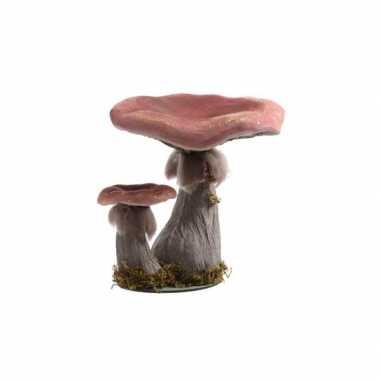 Versiering paddenstoel foam rood 29 cm