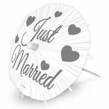 Versiering parasols huwelijk
