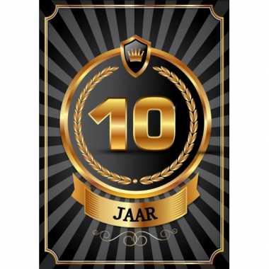 Versiering poster 10 jaar zwart en goud